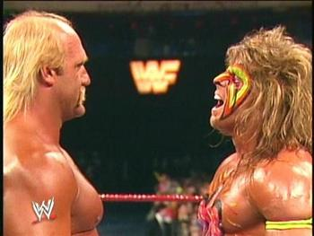 Ultimate Warrior VS Hulk Hogan